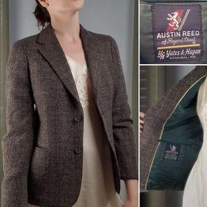 Vintage 1970s Austin Reed brown tweed wool…